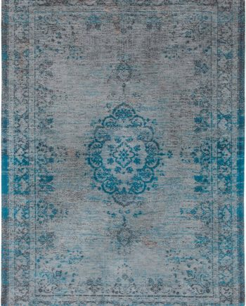 Louis De Poortere rug LX 8255 Fading World Medaillon Grey Turquoise