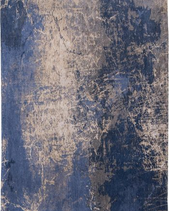 Louis De Poortere rug LX 8629 Mad Men Cracks Abyss Blue