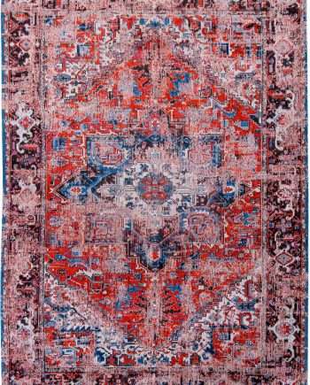 Louis De Poortere rug LX 8703 Antiquarian Antique Heriz Classic Brick