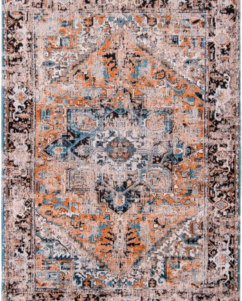 Louis De Poortere rug LX 8705 Antiquarian Antique Heriz Seray Orange