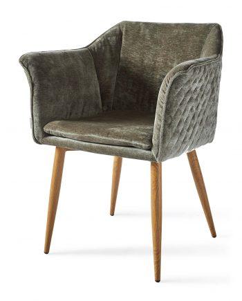 Riviera Maison dining chair Megan Velvet Olive 4159001 1